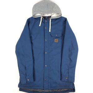 Vans Jackets & Coats - VANS Mountain  Jacket Coat Blue Button-Down Hooded
